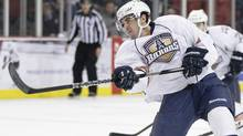 Justin Schultz plays for the Oklahoma City Barons against the Texas Stars in an American Hockey League game at the Cox Convention Center in Oklahoma City. (Steven Christy/Oklahoma City Barons)