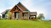 On Site. the Cottages at Honey Harbour. Honey Harbour, Ontario. (Fleming Developments)