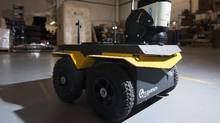 A Jackal robot is shown at the Clearpath Robotics warehouse in Kitchener, Ont. (Hannah Yoon/THE CANADIAN PRESS)
