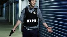 Andy Samberg in his new television series Brooklyn Nine-Nine.