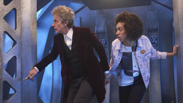 Pearl Mackie, left, joins Doctor Who this season as the Doctor's new companion.