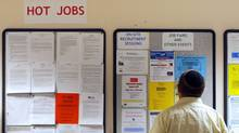 A job seeker in Boston. (BRIAN SNYDER/REUTERS)