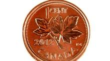 A 2012 Canadian penny (Fernando Morales/The Globe and Mail)