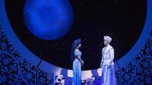 Courtney Reed and Adam Jacobs star in Aladdin at Toronto's Ed Mirvish Theatre in November 2013. (Cylla von Tiedemann/HANDOUT)