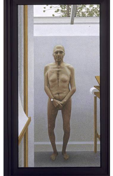 One reader criticized The Globe for using on its front page this nude self-portrait by Alex Colville, the exceptional Canadian realist painter who died in July, 2013. Public editor Sylvia Stead thinks it was a fascinating portrait of an aging body and a good representation of his work as both an artist and a realist. (ALEX COLVILLE/HANDOUT)