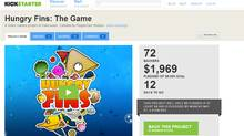 Screen shot of PepperDev's Kickstarter page for its Hungry Fins video game project (KICKSTARTER)