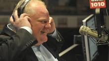 """Toronto mayor Rob Ford defended the purpose of his radio show on Oct. 20, 2013, after Councillor Paul Ainslie told the Canadian Broadcast Standards Council it is used """"to damage and attack the integrity of others with impunity."""" (J.P. MOCZULSKI FOR THE GLOBE AND MAIL)"""