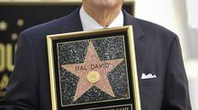 Songwriter Hal David received his star on the Hollywood Walk of Fame in 2011. (GUS RUELAS/REUTERS)