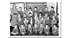 This is a recent but undated photo of the class of Dunblane Primary School, and their teacher, Gwen Mayor, 44, from which sixteen children and Mayor were killed when gunman Thomas Hamilton, 43, opened fire with four handguns in Dunblane, Scotland, Wednesday Mar. 13, 1996. (AP)