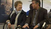 Judi Dench and Steve Coogan in Philomena. There's been grousing that the Coen brothers' Inside Llewyn Davis should have bumped Philomena in the best-picture contenders. (Alex Bailey/AP)