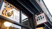 At Joe Beef, one of Montreal's most acclaimed restaurants, decorative elements with English words have been deemed in violation of language laws. (Graham Hughes/THE CANADIAN PRESS)