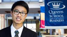 Newton Zheng won $19,200 in awards to help cover costs at Queen's University. (Courtesy Newton Zheng)