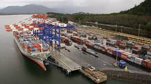 The Port of Prince Rupert. BG Group PLC has secured access to a 200-acre section of land on the Ridley industrial development site, owned by the Prince Rupert Port Authority. (Prince Rupert Port Authority)