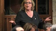 Green Party Leader Elizabeth May speaks in the House of Commons on Parliament Hill in Ottawa June 2, 2011. (CHRIS WATTIE/REUTERS)