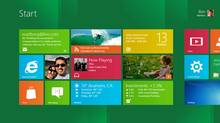 An example of the Start screen for Windows 8. (Microsoft/Microsoft)