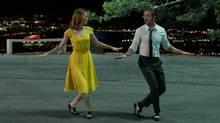 Emma Stone and Ryan Gosling in LA LA LAND, an Entertainment One release. (Dale Robinette)