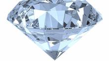 Single diamond isolated on white. (Evgeny Terentev/iStockphoto)