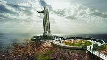 The proposed war memorial monument at Green Cove, N.S., will feature a 10-storey-high statue called 'Mother Canada.' (Rayment & Collins)