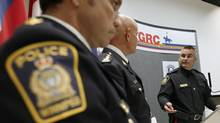 Police announce the arrest of Traigo Andretti in the slaying of Myrna Letandre almost eight years ago. Her remains were found in May, 2013, in a Winnipeg home. (JOHN WOODS/THE CANADIAN PRESS)