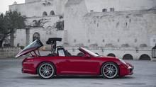 Porsche 911 Targa buyers will pay a $12,000 premium for the hideaway glass roof. (Porsche)