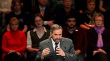 NDP leadership candidate Thomas Mulcair speaks during an all candidates debate in Vancouver, B.C., on Sunday March 11, 2012. The debate is the last before the party elects a new leader to replace the late Jack Layton at a convention March 23 and 24 in Toronto. (Darryl Dyck/The Canadian Press/Darryl Dyck/The Canadian Press)