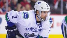 Among pending unrestricted free agents, one of the most attractive rental defencemen is Vancouver Canucks' Dan Hamhuis. (Derek Leung/Getty Images)