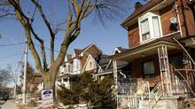 A house recently sold during winter real estate market in Toronto February 06, 2013. (Fernando Morales/The Globe and Mail)