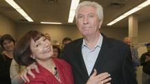 Bloc Quebecois Leader Gilles Duceppe and his wife Yolande Brunelle atriding headquarters Sunday, May 1, 2011 (Jacques Boissinot/THE CANADIAN PRESS)