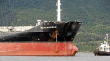 An oil tanker in B.C. waters. (Chris Wilson/Chris Wilson)