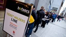 Filmgoers queue up for a screening at the Hot Docs festival in Toronto in April, 2011. (Joseph Michael for The Globe and Mail)