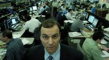 Benjamin Tal, an economist at CIBC is photographed on the trading floor in Toronto. (Kevin Van Paassen/The Globe and Mail)