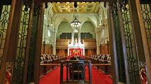 The Senate chamber sits empty in Ottawa on Jan. 17, 2011. (Reuters)