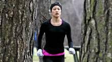 Belinda Chun, owner of the Gallery House, runs in High Park in Toronto on January 06, 2012. (Deborah Baic/Deborah Baic/The Globe and Mail)