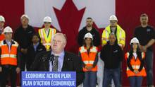 Mayor of Toronto Rob Ford speaks at an announcement at Billy Bishop Toronto City Airport in Toronto, March 9, 2012. (MARK BLINCH/REUTERS)