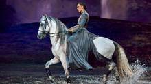 """An actor on horseback from the theatre production """"Odysseo"""" (THE CANADIAN PRESS)"""