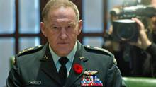 General Walter Natynczyk, the Chief of Defence Staff, appears before a Commons committee in Ottawa on Nov. 3, 2011. (Sean Kilpatrick/THE CANADIAN PRESS)
