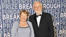 Physicist Art McDonald (R) and wife Janet attend the 2016 Breakthrough Prize Ceremony on November 8, 2015 in Mountain View, California. (Steve Jennings/Getty Images)