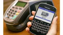 The RBC Mobile Wallet application is seen here. (Tim Fraser For The Globe and Mail)