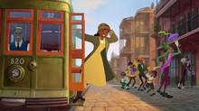 Tiana takes a ride in The Princess and the Frog: (©Disney Enterprises, Inc. All Rights Reserved.)