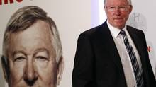 Former Manchester United manager Alex Ferguson arrives for a news conference for his new autobiography at the Institute of Directors in London October 22, 2013. (LUKE MACGREGOR/REUTERS)