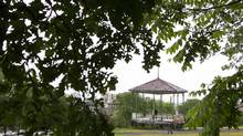 The gazebo in Mont Royal Park to be dedicated to Mordecai Richler on June 23, 2011. (Christinne Muschi for The Globe and Mail/Christinne Muschi for The Globe and Mail)