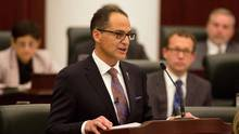 Alberta Finance Minister Joe Ceci has spoken favourably of basic income plans in the past, but Kevin Milligan argues that such a plan would be unfathomably expensive. (TOPHER SEGUIN/THE CANADIAN PRESS)
