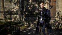 Kourosh Houshmand stands outside Trinity College on University of Toronto campus in Toronto, Saturday November 12, 2016. (Mark Blinch/Globe and Mail)