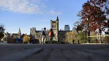"King's College Road at the University of Toronto. President Meric Gertler says he is following the spirit of a report that recommended divesting from firms that ""blatantly disregard"" major global environmental priorities. (Fred Lum/The Globe and Mail)"