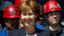 British Columbia Premier Christy Clark smiles after speaking at Seaspan Shipyards in North Vancouvern on Tuesday, June 7, 2011. (Darryl Dyck/The Globe and Mail/Darryl Dyck/The Globe and Mail)