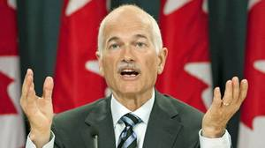 NDP Leader Jack Layton explains his compromise proposal on the long-gun registry during an Ottawa news conference on Sept. 16, 2010.