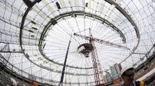 Members of the media during a tour of construction at BC Place in Vancouver June 28, 2011. (John Lehmann/The Globe and Mail/John Lehmann/The Globe and Mail)