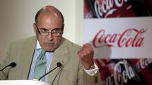 Muhtar Kent, CEO of Coca-Cola Co., gestures during a media briefing in New Delhi, on June 26, 2012. Coca-Cola Co. said the company and its local partners plan to spend $5 billion in India by 2020 as demand for its products increases in the world's second-most populous nation. (Prashanth Vishwanathan/Bloomberg)
