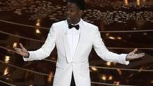 Host Chris Rock opens the show at the 88th Academy Awards in Hollywood, California February 28, 2016. (MARIO ANZUONI/REUTERS)
