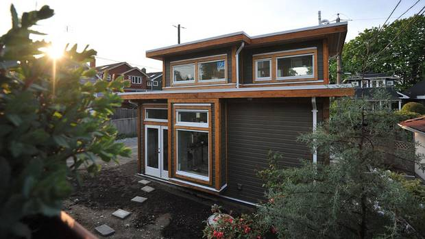 A laneway home designed by Vancouver's Smallworks Studios/Laneway Housing Inc.